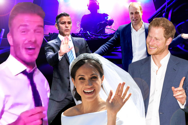 prince harry and meghan markle let hair down at royal wedding after party del report prince harry and meghan markle let hair